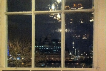 The view of MI6 HQ from The Spying Room in the Morpeth Arms