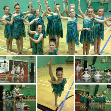 Runners Up - Dance Connection Jnrs (green) LDT Seniors (White)